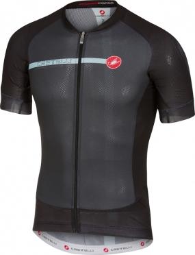 Castelli Aero race 5.1 fietsshirt zwart/blauw heren