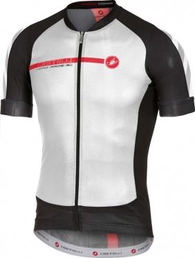 Castelli Aero race 5.1 fietsshirt wit/zwart/rood heren