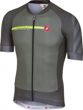 Castelli Aero race 5.1 fietsshirt forest grijs heren