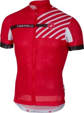 Castelli Free ar 4.1 fietsshirt rood heren