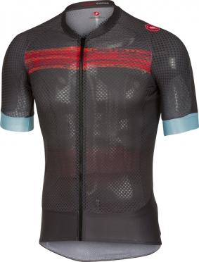 Castelli Climber's 2.0 fietsshirt antraciet/rood heren