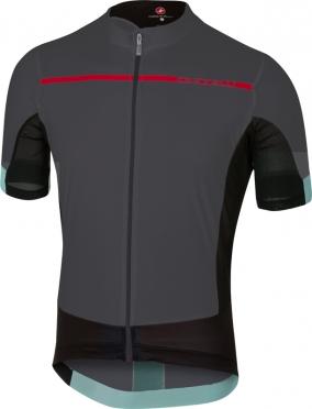 Castelli Forza pro fietsshirt antraciet/rood heren