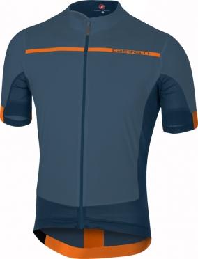 Castelli Forza pro fietsshirt blauw/oranje heren