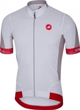 Castelli Volata 2 fietsshirt wit/rood heren