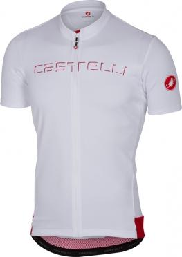 Castelli Prologo V fietsshirt korte mouw wit heren