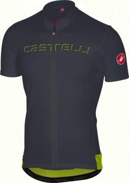 Castelli Prologo V fietsshirt korte mouw antraciet heren