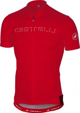 Castelli Prologo V fietsshirt korte mouw rood heren