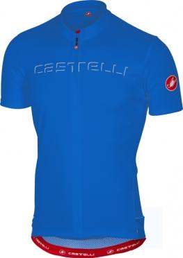 Castelli Prologo V fietsshirt korte mouw blauw heren