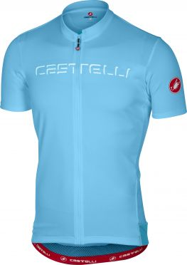 Castelli Prologo V fietsshirt korte mouw licht blauw heren