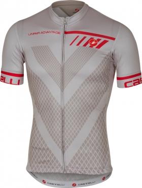 Castelli Velocissimo fietsshirt korte mouw grijs heren