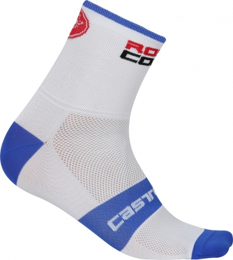 Castelli Rosso corsa 6 fietssokken wit/blauw heren