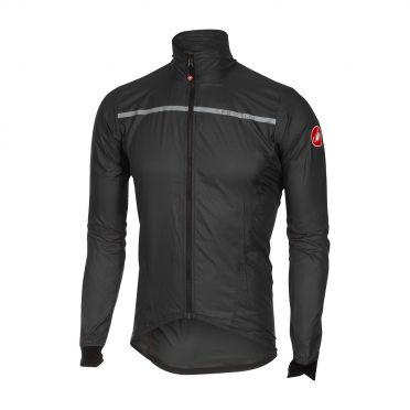Castelli Superleggera jacket regenjack antraciet heren