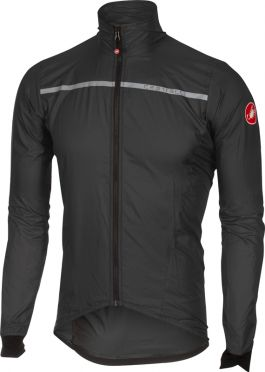 Castelli Superleggera jacket antraciet/geel heren