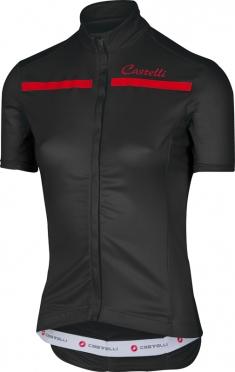 Castelli Imprevisto W fietsshirt zwart/rood dames