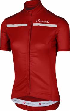 Castelli Imprevisto W fietsshirt rood/wit dames