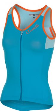 Castelli Solare top mouwloos blauw dames