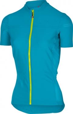 Castelli Promessa 2 fietsshirt caribbean/geel dames