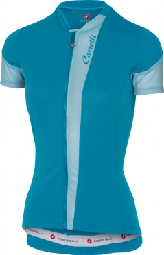 Castelli Spada fietsshirt caribbean/blauw dames