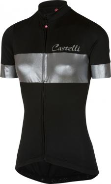Castelli Cromo fietsshirt zwart/zilver dames