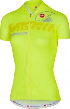 Castelli Favolosa fietsshirt geel fluo dames