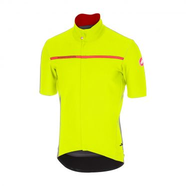 Castelli Gabba 3 korte mouw shirt geel heren