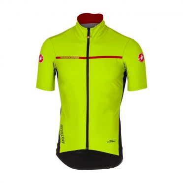 Castelli Perfetto light 2 korte mouw shirt geel heren