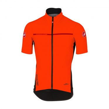 Castelli Perfetto light 2 korte mouw jacket oranje heren