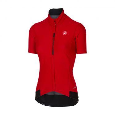 Castelli Gabba 3 W korte mouw jacket rood dames