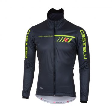 Castelli Velocissimo 2 jacket zwart/geel-fluo heren