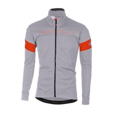 Castelli Transition jacket grijs/oranje heren