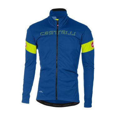 Castelli Transition jacket blauw/geel-fluo heren