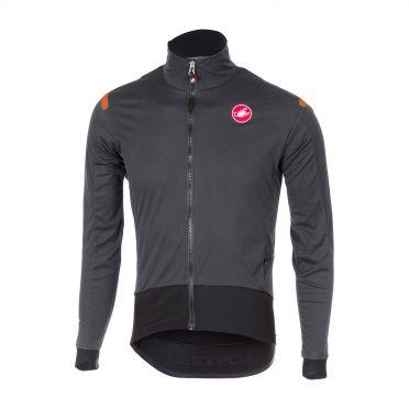 Castelli Alpha ros fietsshirt lange mouw antraciet/zwart heren
