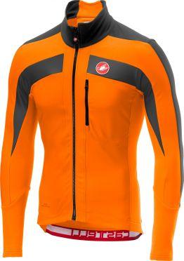 Castelli Trasparente 4 fietsshirt lange mouw oranje/grijs heren