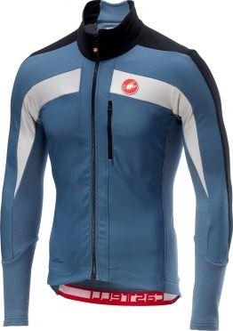 Castelli Trasparente 4 fietsshirt lange mouw blauw heren