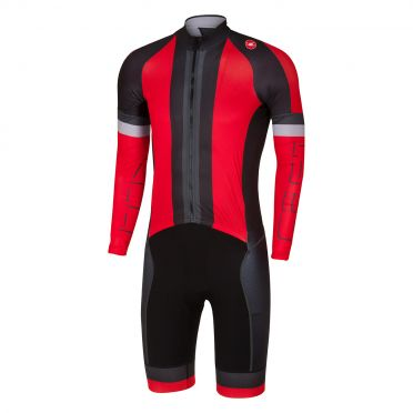 Castelli CX sanremo speedsuit rood/zwart heren