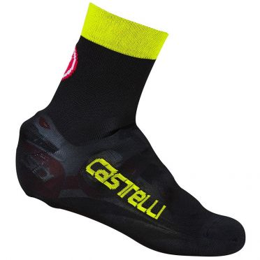 Castelli Belgian bootie 5 overschoen zwart/fluo geel heren