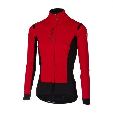 Castelli Alpha RoS W jacket rood/zwart dames
