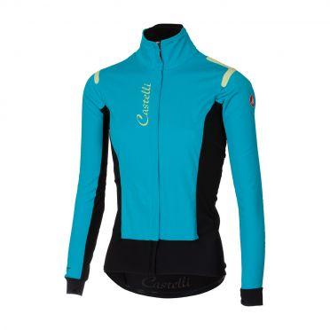 Castelli Alpha RoS W jacket turquoise/zwart dames