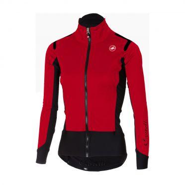 Castelli Alpha ros W fietsshirt lange mouw rood dames