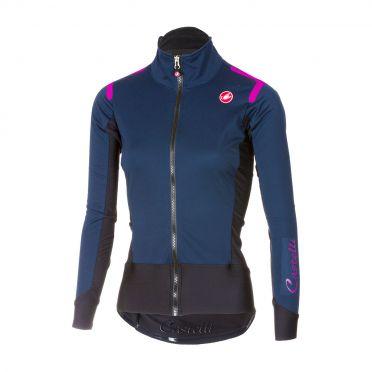 Castelli Alpha ros W fietsshirt lange mouw blauw dames