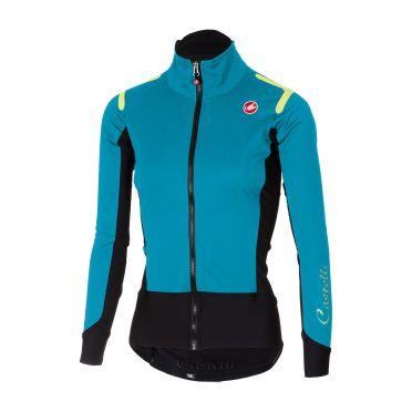 Castelli Alpha ros W fietsshirt lange mouw turquoise dames