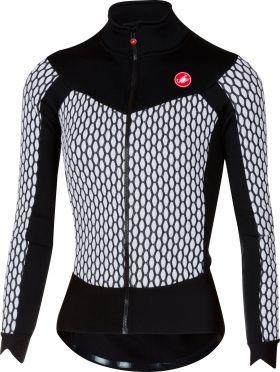 Castelli Sfida W fietsshirt lange mouw wit/zwart dames