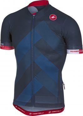 Castelli Free ar 4.1 fietsshirt donker blauw heren