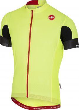 Castelli Aero race 4.1 solid fietsshirt fluo geel heren