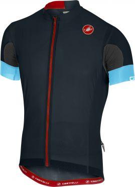 Castelli Aero race 4.1 solid fietsshirt donker blauw heren