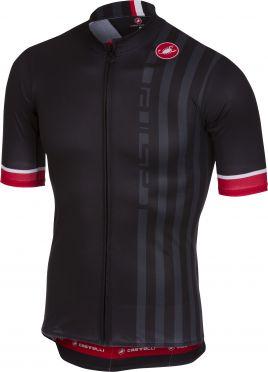 Castelli Podio doppio fietsshirt zwart heren