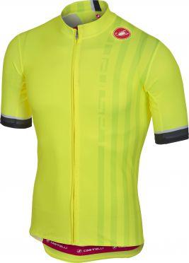 Castelli Podio doppio fietsshirt fluo geel heren