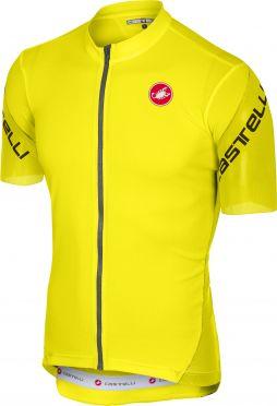 Castelli Entrata 3 fietsshirt korte mouw fluo geel heren