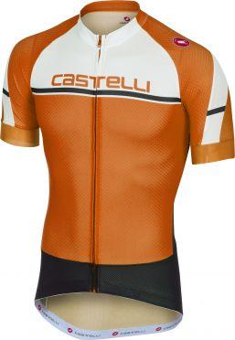 Castelli Distanza jersey fietsshirt oranje heren