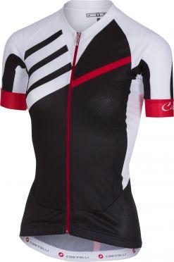 Castelli Aero race W jersey FZ fietsshirt zwart/wit dames